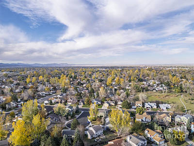 Fort Collins Aerial View Art Print