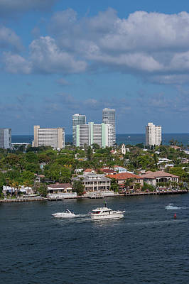 Fort Lauderdale, Port Everglades Art Print by Jim Engelbrecht