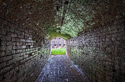 Fort Macomb Tunnel Art Print by Andy Crawford