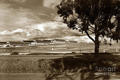 Photograph - Barracks At Fort Ord Army Base Monterey California 1955 by California Views Mr Pat Hathaway Archives