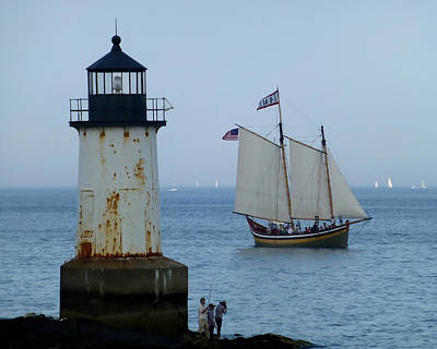 Photograph - Fort Pickering Lighthouse Winter Island Salem Ma by Toby McGuire
