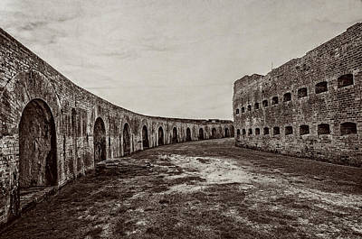 Photograph - Fort Pike Parade Ground by Andy Crawford