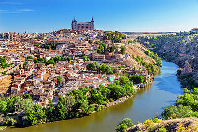 Fortress, Medieval City, Tagus River Art Print