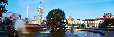 Fountain In A City, Country Club Plaza Art Print