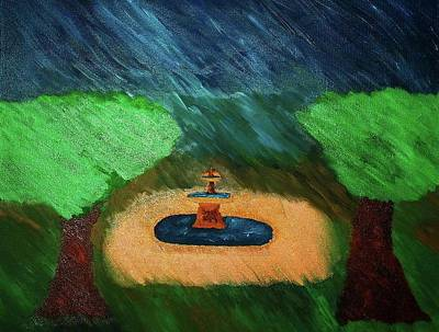 Fountain In The Midst Art Print by Bamhs Blair