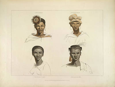 Four Portraits Art Print by British Library