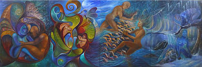 Four Seasons Art Print by Claudia Goodell
