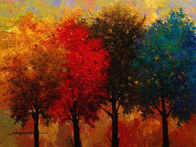 Painting - Four Seasons by Kanayo Ede