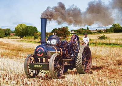 Fowler Ploughing Engine Art Print