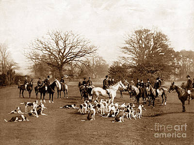 English Fox Hunting Photograph - Fox Hunting England by The Keasbury-Gordon Photograph Archive