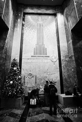 Foyer Of The Empire State Building New York City Usa Art Print by Joe Fox