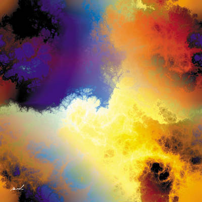 Painting - Fractal Space Storm 10 by The Art of Marsha Charlebois