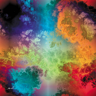 Painting - Fractal Space Storm 3 by The Art of Marsha Charlebois