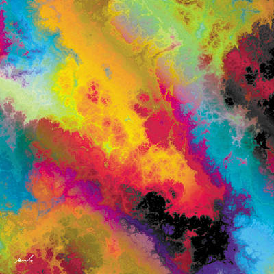 Painting - Fractal Space Storm 6 by The Art of Marsha Charlebois