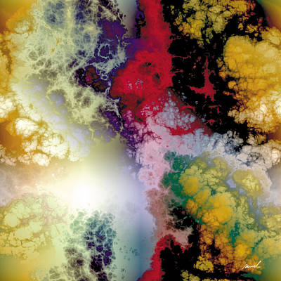 Painting - Fractal Space Storm 9 by The Art of Marsha Charlebois