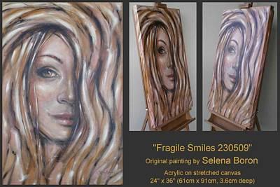 Fragile Smiles 230509 Art Print by Selena Boron