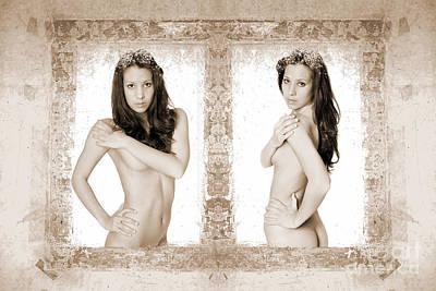 Beauty Photograph - Framed Fine Art Nude by Jochen Schoenfeld