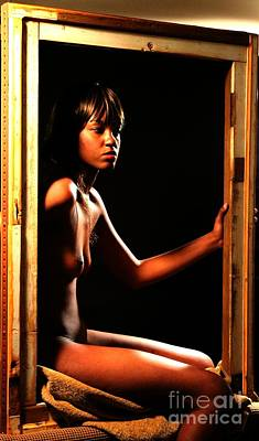 Seated Nude Girl Photograph - Framed by Robert D McBain