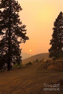 Landsacape Photograph - Framed Sunset by Robert Bales
