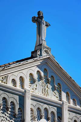 Sacre Coeur Photograph - France, Corsica, Ajaccio, Eglise Sacre by Walter Bibikow