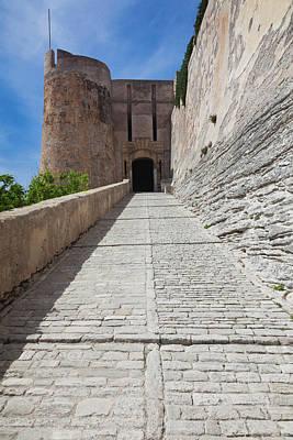 Sud Photograph - France, Corsica, Bonifacio, Citadel by Walter Bibikow