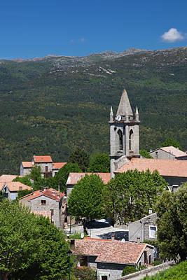 France, Corsica, La Alta Rocca, Zonza Print by Walter Bibikow