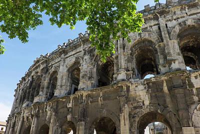 France, Nimes, Roman Amphitheater Or Art Print by Emily Wilson