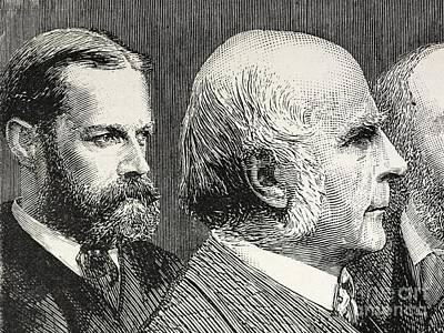 Galton Photograph - Francis Darwin And Francis Galton by Paul D. Stewart