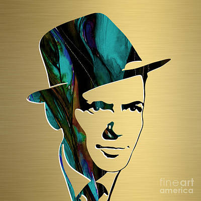 Mixed Media - Frank Sinatra Gold Series by Marvin Blaine