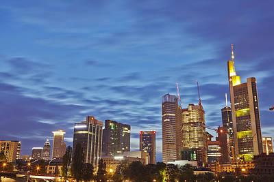 Frankfurt - Skyline In The Evening Print by Olaf Schulz