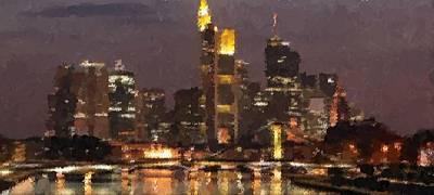 Painting - Frankfurt Skyline by Samuel Majcen