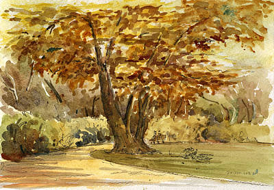 Oaks Painting - Frankfurter Park by Juan  Bosco