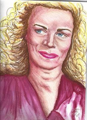Art Print featuring the pastel Frau Washington by Alga Washington