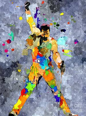 Freddie Mercury Art Print by Daniel Janda