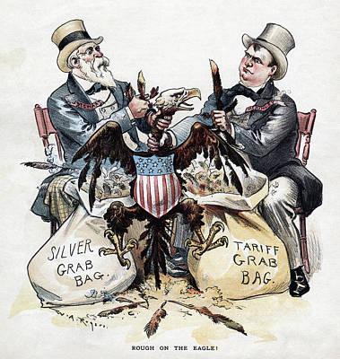 William Mckinley Painting - Free Silver Cartoon, 1893 by Granger
