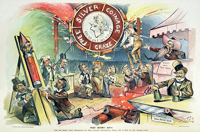 Free Silver Cartoon, 1895 Art Print