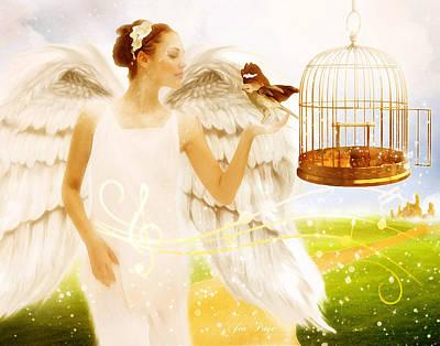 Jennifer Page Mixed Media - Freedom Song by Jennifer Page