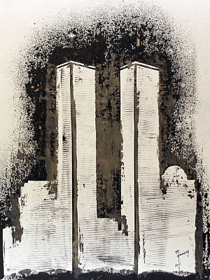 Richard Sean Manning Studios Painting - Freedom Towers by Richard Sean Manning