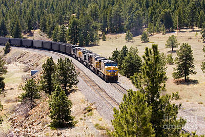 Steven Krull Royalty-Free and Rights-Managed Images - Freight on the Divide by Steven Krull