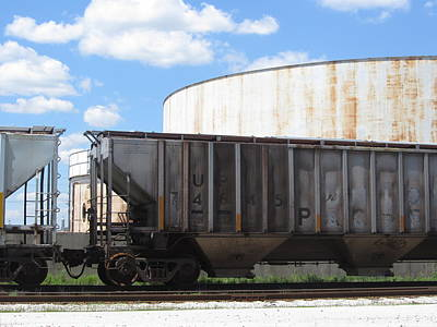 Photograph - Freight Train Cars 4 by Anita Burgermeister