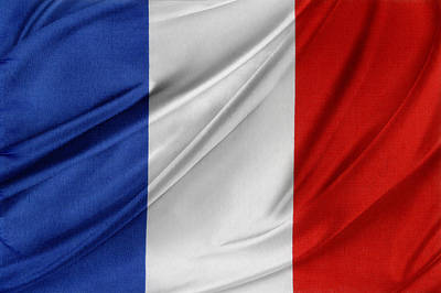 Waving Flag Photograph - French Flag  by Les Cunliffe