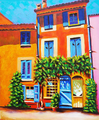 French Real Estate Art Print