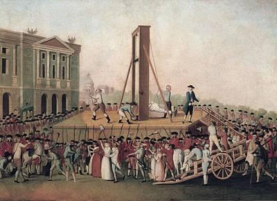 French Revolution 1793. Execution Art Print