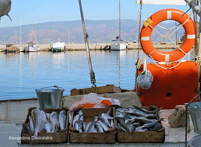 Hydra Island Photograph - Fresh Fish In Hydra by Alexandros Daskalakis