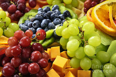 Buffet Photograph - Fresh Fruits by Elena Elisseeva