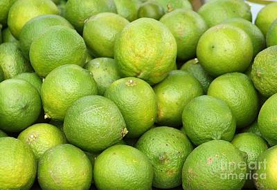 Photograph - Fresh Green Lemons by Yali Shi