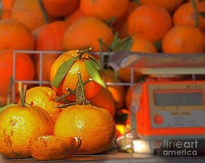 Fresh Natural Oranges Print by Yali Shi