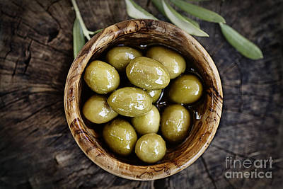 Fresh Olives Art Print by Mythja  Photography