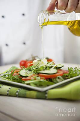 Fresh Salad Art Print by Mythja  Photography