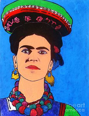 Painting - Frida by Roberto Prusso